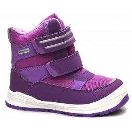 Bugga Dievčenské zimné topánky s membránou - ružovo-fialové