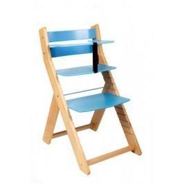 WOOD PARTNER Rastúca stolička UNIZO - natur lak - modrá