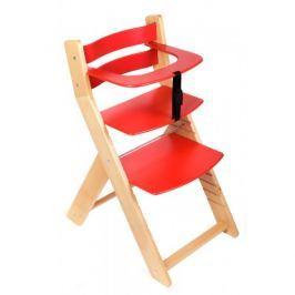 WOOD PARTNER Rastúca stolička UNIZO - natur lak - červená