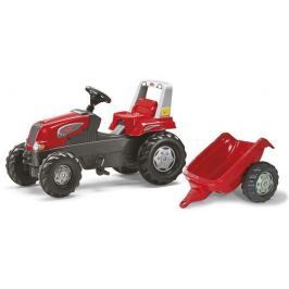 Rolly Toys Šliapací traktor Rolly Junior x s vlečkou červený