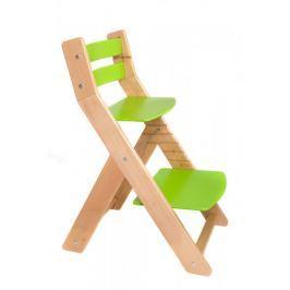 WOOD PARTNER Rastúca stolička MONY natur lak - zelená