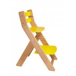 WOOD PARTNER Rastúca stolička MONY natur lak - žltá