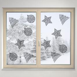 Housedecor Samolepka na sklo Drôtené ozdoby