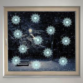 Housedecor Samolepka na sklo Strihané vločky