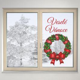 Housedecor Samolepka na sklo Veselé Vianoce