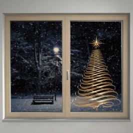 Housedecor Samolepka na sklo Zlatý strom