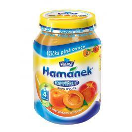 Hamánek HAPPYFRUIT 100% ovocia s marhuľami s broskyňou 6x190g