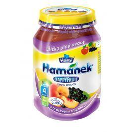 Hamánek HAPPYFRUIT 100% ovocia s broskyňami a bazou 6x190g