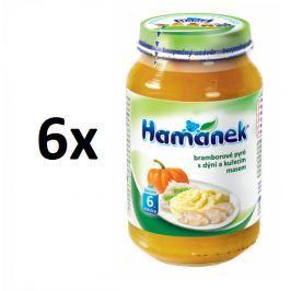 Hamánek Zemiakové pyré s tekvicou a kuracím mäsom 6x230g
