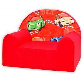 Baby Nellys Detské kresielko Veselá autíčka v červenom