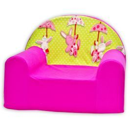 Baby Nellys Detské kresielko Zajačik a dáždnik v ružovej