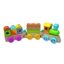 ANDREU Toys Farebný drevený vláčik