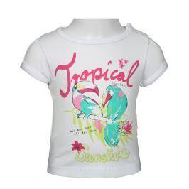 Blue Seven Dievčenské tričko Tropical - biele