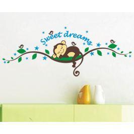 Ambiance Dekoračné samolepky - spiaca opička na strome