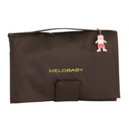 Melobaby MELOCHOC - hnedá taška + zelená prebaľovacia podložka