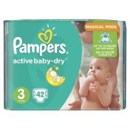 Pampers Active Baby-dry 3 Midi, 42 ks (4-9 kg) - jednorazové plienky