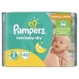 Pampers Active Baby-dry 2 Mini, 43 ks (3-6 kg) - jednorazové plienky