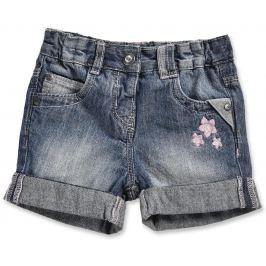 Blue Seven Dievčenské džínsové nohavice s kvietkami - modré