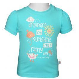 Blue Seven Dievčenské tričko s mráčika - svetlo modré