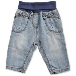 Blue Seven Dievčenské džínsové nohavice s mašličkami - svetlo modré