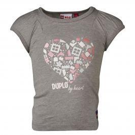 LEGO® wear Dievčenské tričko Tiff 402 - sivé