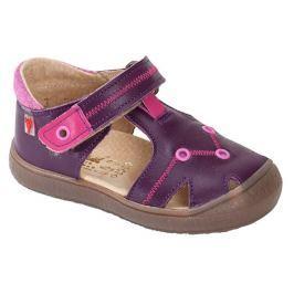 RAK Dievčenské kožené sandále Miranda - fialové