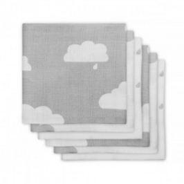 Jollein Plienky balenie 6ks, Clouds grey, 70x70cm