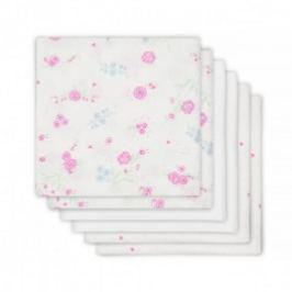 Jollein Plienky balenie 6ks, Blooming pink, 70x70cm