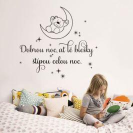 Housedecor Samolepka na stenu Dobrú noc pre deti