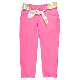 MMDadak Dievčenské nohavice s opaskom Smile - ružové