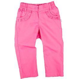 MMDadak Dievčenské nohavice s volánikmi - ružové
