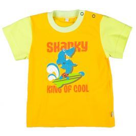 MMDadak Chlapčenské tričko Shark - žlté