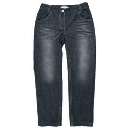 MMDadak Dievčenské džínsové nohavice so šisováním - tmavo modré