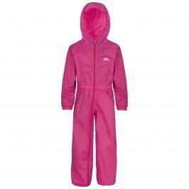 Trespass Dievčenské nepremokavý overal Button - ružový