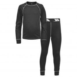Trespass Detské funkčné prádlo Mika - čierne