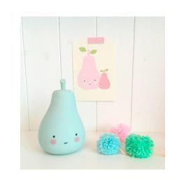 Little Lovely Company Nočné mini svetielko Hruštička - modrá