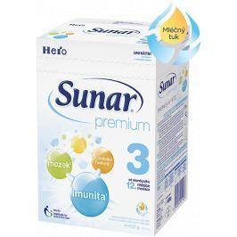 Sunar dojčenské mlieko Premium 3, 600g