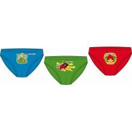 E plus M Chlapčenská sada 3ks slipov Angry Birds - farebná