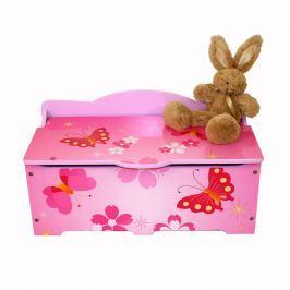 Homestyle4U Detská truhla na hračky Motýliky