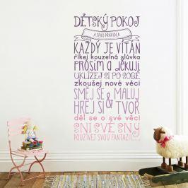 Housedecor Samolepka na stenu - Pravidlá detskej izbičky