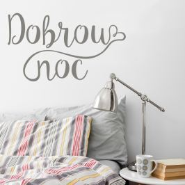 Housedecor Samolepka na stenu - Dobrú noc
