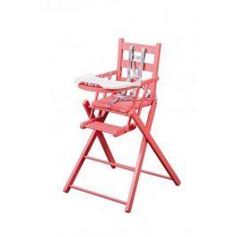 Combelle Skladacia jedálenská stolička, ružová