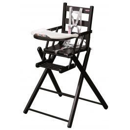 Combelle Skladacia jedálenská stolička, čierna