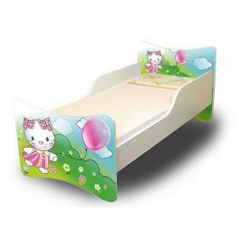 Ourbaby Detská posteľ Mačička, 160x70 cm