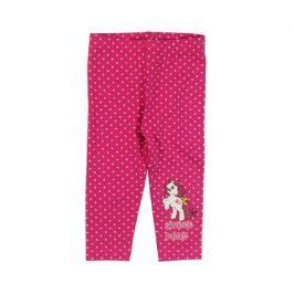E plus M Dievčenské bodkované legíny Sweet Pony - ružové