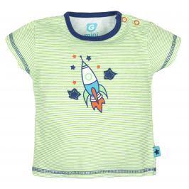 G-mini Chlapčenské pruhované tričko Raketa - zelené