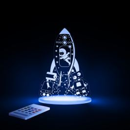 Aloka Nočné svetielko Kozmonaut + ovládač pre voľbu farieb