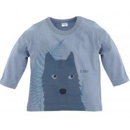Pinokio Chlapčenské tričko s vlkom - sivé
