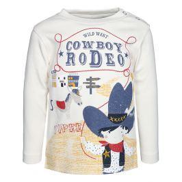 Blue Seven Chlapčenské tričko Cowboy - biele