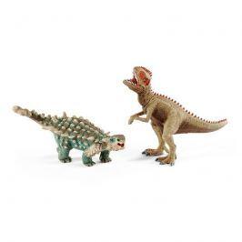 Schleich Prehistorická súprava Giganotosaurus a saichania malí